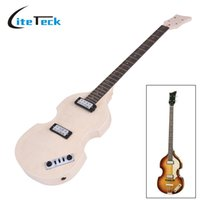 Wholesale Unfinished Electric Guitar Bodies - Wholesale- Unfinished DIY Electric Bass Guitar Kit High Quality Basswood Body Maple Neck Rosewood Fingerboard Electric Guitarra Kit