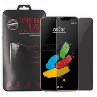 Wholesale Packaging For Stylus - For LG K7 Privacy Tempered Glass Screen Protector Film Anti-spy Cover Shield For LG Stylus 2 K8 K4 Galaxy On5 Huawei P9 with Retail Package