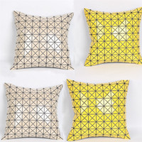 45x45 cm Plaid Glossy Cushion Home Sofa Throw Cuscino Auto Indietro Cuscino Sedile Poggiatesta Giallo Pinkbeige Colori