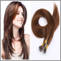 """Wholesale Blonde Hair 28 - Unprocessed Remy Micro Nano Ring Hair Extensions 100% Indian Human Hair Black Brown Blonde 1g s 100g pack 18""""-28""""100g pk"""