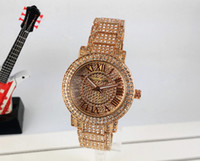 Wholesale Geneva Watch Bling - 2017 Selling Famous Women High Quality Luxury Fashion Bling Casual Crystal Stainless Steel Diamond Strap Quartz Waterproof Geneva Watches