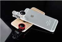 Wholesale Mobile Fish Eye - 3 In 1 Universal Clip Camera Mobile Phone Lens Fish Eye + Macro + Wide Angle For iPhone 7 Samsung Galaxy S7 HTC Huawei All Phones fisheye