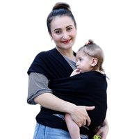 Wholesale Cotton Sling Bags - 100% Cotton Solid Baby Carriers Multifunctional Infant Breastfeed Sling Baby Stretchy Baby Wrap Backpack Bag Kids Breastfeeding