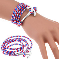 Wholesale wholesale fishing hooks china - 60 Styles Anchor Bracelets Infinity Multilayer Wrap Rope Bracelet Charm Fish Hook Anchor Pulsera Christmas Gift Jewelry