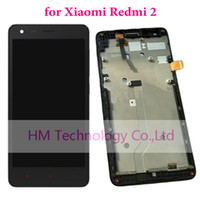 Wholesale xiaomi rice - Wholesale-Black LCD+TP+Frame for Xiaomi Redmi2 Redmi 2 LCD Display+ Touch Screen Digitizer Assembly+Frame Red Rice 2 Free Shipping+Tools