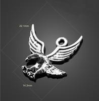 Wholesale Eagle Necklaces Women - Come on Guys 150pcs eagle hawk Charms Pandora Antique Silver Alloy Jewelry Fit For Bracelet Pendant Necklace Man&Woman 22*14mm