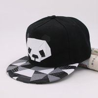 Wholesale Panda Snapback Hat - Wholesale- 2017 Summer New Cartoon panda Adjustable Baseball Caps Snapback Hats For youth Men Women Fashion animal Cap Hip Hop Sun Bone Hat