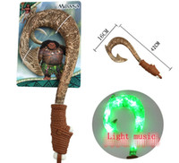 Wholesale Toy Knives Swords - Moana cartoon toy Maui's magic weapon Hook knife The lightsaber toy music and light Hook knife
