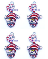Wholesale Metal Charms Pendants Cat - New Alice in Wonderland Cheshire Cat Metal Charm pendants Jewelry Making Party Gifts KA100