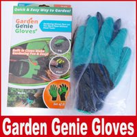 Wholesale Dig Tool - Garden Gloves For Digging & Planting Unisex Cut Resistant Nitrile No Worn Out Fingertips Unisex Claws Left Hand Claws Patent Pending Tool