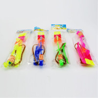 Wholesale copter rocket - 1000PCS Flash Copter Amazing LED Light Up Arrow Rocket Helicopter Rotating Flying Toy Party Fun Gift