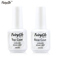 All'ingrosso-FairyGlo Facile Soak Off Gel Nail Polish 15ml Base Gel Top coat UV / LED Nail Art polacco del gel Builder acrilico polacco Set
