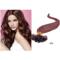 Wholesale European Hair Nail Tip - #613 color 1g strand Nail U Tip Pre-Bonded Keratin Glue Human Natural Hair Extensions ON Capsules 100g 18inch--24inch Real Human Hair