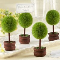 Wholesale Wedding Table Tree Holders - Wholesale- Free shipping DHL 100pcs lot Wedding favor Topiary tree Photo and Place Card Holder Wedding table decoration or party Wholesale