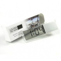 Wholesale Transparent Clock Display - Car Electronic Clock Mini Durable Transparent LCD Display Digital Sucker M00074