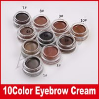 T-160867 blonde types - HOT Eyebrow Cream Medium Brown Waterproof Makeup Eyebrow g Blonde Chocolate Dark Brown Ebony Auburn Medium Brown eyebrow gel powder