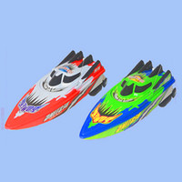 Wholesale Rc Children Boat - Wholesale- Powerful Remote Control Speedboats 25km h High Speed Electric Plastic Rc Boats Toys Model Ship Sailing Children Kids Ship