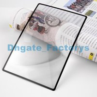 180X120mm Convinient A5 Flat PVC Magnifier Fiche X3 Volume de la page Magnification Magnifying Reading Glass Lens Brand New