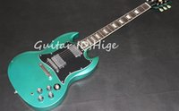 Wholesale guitar hot quality for sale - Group buy new arrival S model electric guitar in Metal green color with chrome hardware hot selling high quality guitarra