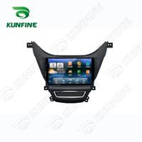 Wholesale Car Dvd Gps China - Quad Core Android 5.1 1024*600 Car DVD GPS Navigation Player Car Stereo for Hyundai Elantra 2011 2012 2013 Headunit Radio Deckless Bluetooth