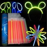 Wholesale Glow Fluorescent Light Sticks Bracelets - LED Fluorescent Bracelets LED Light Sticks Disposable Lamp Sticks Glow Light Sticks Christmas Gift Lamp Halloween LED Light