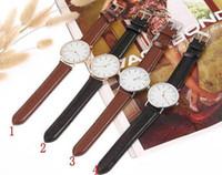 Wholesale Military Leather Watch Bands - 40mm 36mm Brown Leather band classic black watch luxury Nylon Daniel D brand new men watches Nylon Strap Military Quartz Daniel Wristwatch