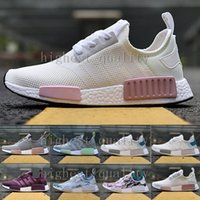 Wholesale Plastic Salmon - NMD Runner R1 Mesh Triple White Cream Salmon City Pack Women Running Shoes Sneakers Original NMDs Runner Primeknit Sports Shoes size 36-40