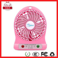 Wholesale Wholesale Christmas Stockings China - F95B Portable Mini USB Fan Battery 18650 Operated LED Lamp fan for Indoor Outdoor Kids Table travel christmas
