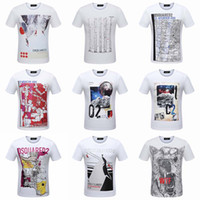 Wholesale 3631 M XL new style Tide brand men s T shirts printing Designer Stretch cotton top quality fashion Men T shirts sweater