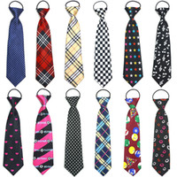 Wholesale Ties Necktie Colorful Neck Tie - Printed Colorful Children Necktie Boys Girls Students Funny Cravat Tie Birthday Party Gathering Ceremony 4-14 Years Old Neckwear