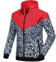 Wholesale Large Men Suits - 2017 New Jogging Suits Sport NWT Woman Sport Jacket Hooded Windbreaker Breathable and Warm BLK Large Sport Windbreaker