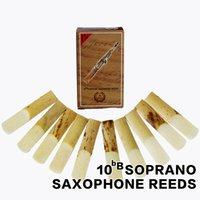 Wholesale Soprano Saxophone Reeds - Wholesale- XINZHONG bB 2 1 2 Straight Soprano Sax Saxophone Reeds Saxofone Accessories 10pcs box