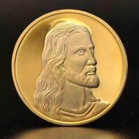 Wholesale Christian Metal - Jesus Christ Last Supper Son of God Christian 24K Gold Plated Prayer Coin Token