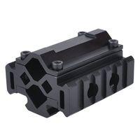 Wholesale Shotgun Laser Mounts - Hunting Shotgun Tri-Rail Barrel Mount 21mm Picatinny and Weaver Rails with 5 slots Attach Laser Grip Flashlight and Bipod