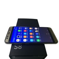 Wholesale Bulgarian Stock - Goophone S8 edge S8 phones 5.2 Inch WCDMA 3G MTK6580 Quad Core 1GB+8GB Android 6.0 2+8MP S8 Phone show Fake 4G 8Core 4+128GB 13MP in stock