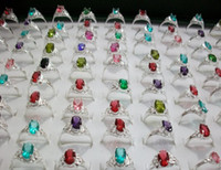 Wholesale ordering plants - 2017 new fashion Girl   lady zircon Ring Mixed order Mixed Multi style size 36pcs lot Exquisite design jewelry