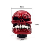 Wholesale Shift Lever Knobs - gear knob Universal Personalized Car Shift Knob Human Carved Skull Head 5 Speed Car Gear Stick Shifter Knob Shift Lever 5 Colour Option
