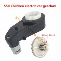 Wholesale Electric Motor Gear Box - Children electric car gearbox with motor,baby motorcycle gearbox dc motor 550 engine gear box,12v electric motor with gear box