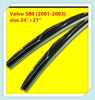 Wholesale Volvo Wipers - 3 Section Rubber Windscreen Wipers For Volvo S80 Volvo C30 Volvo S60