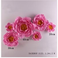 Giant Simulation Falten Papier Blumen Showcase Hochzeit Backdrops Requisiten Flores artificiais para decora o 7 Optionen
