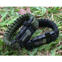 "Wholesale Survival Bracelet Whistle Buckles - 5pcs 3 4""(19mm) Outdoor Survival Kit Multi-functional Paracord Bracelet Fire Starter Whistle Buckle Free Shipping"