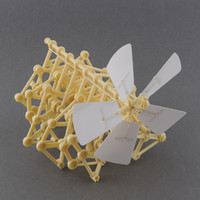 Wholesale Drop Ship Plastic Models - Wholesale- DIY Creature Puzzle Wind Powered Walker Strandbeest Assembly Powerful model Kits Toy Children Gift Drop Shipping