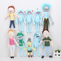 Wholesale Adult Comics Wholesale - 10pcs lot Rick and Morty Season 3 Adult Swim Cartoon Morty Summer Jerry Smith Grandpa Rick Mr.Meeseeks Stuffed Plush Doll Toys