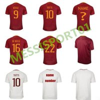 Wholesale Special Shirts - top quality 2017 2018 ROMAS soccer jersey 17 18 ROME TOTTI special DE ROSSI DZEKO EL SHAARAWY home away football shirt free shipping