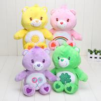 muñecas de amor de felpa al por mayor-4 estilos 30 cm cuidado de dibujos animados osos juguete suave juguetes de peluche muñeca rellena de peluche almohada bebé oso de peluche muñeca para niños amó regalos