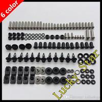 Wholesale Zx6r Body - 100% For KAWASAKI NINJA ZX6R ZX-6R ZX 6R 636 ZX636 2007 2008 07 08 Body Fairing Bolt Screw Fastener Fixation Kit K-01