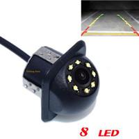 ccd lkw kamera großhandel-Neue Produkt 20mm Bohrloch 8 LED Nachtsicht CCD Parkplatz Vidicon Rückfahrkamera rückfahrkamera lkw / bus