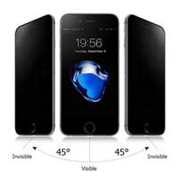gehärtetem glasschirm iphone 5s großhandel-Für iphone XS XR XS MAX 6 7 8 6 plus 7 plus 8P 5 5S SE 9H Privacy gehärtetes Glas Anti-Spion Displayschutzfolie 100 TEILE / LOS Einfache opp