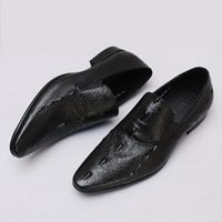 Wholesale new fashion Genuine Leather Shoes For Men Business Men s Dress Shoes Ostrich pattern