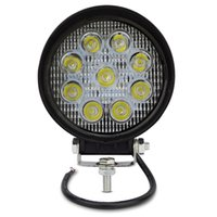 Wholesale Led Flood Lights For Trailer - 4 inch 27W Round Square Spot Flood Beam Lamp for Tank Boat Tractor Truck Trailer SUV JEEP 4X4 4WD LED Offroad Working Light